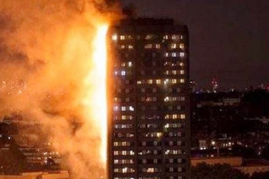 Massive Fire Engulf 27-Storey Building in London